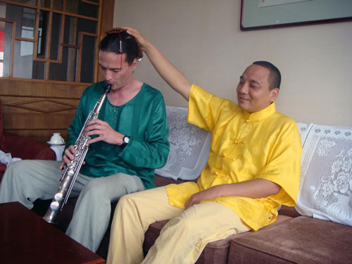 Gert Anklam mit den Zhou Brothers in China
