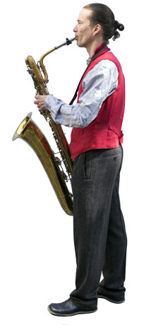 Gert Anklam with Saxophone